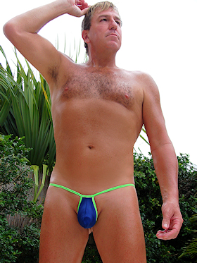 Swimwear in tiny Large cocks