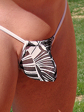 Jackal Leaves Thong Bikini